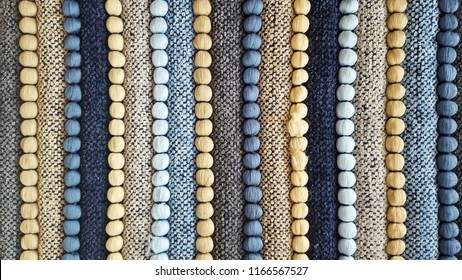 Colorful handmade striped carpet  fabric texture for background