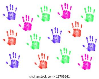 Colorful Hanprints
