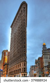 Colorful HDR picture of the Flatiron Building in Manhattan, New York City