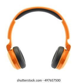colorful headphones on white background, isolate