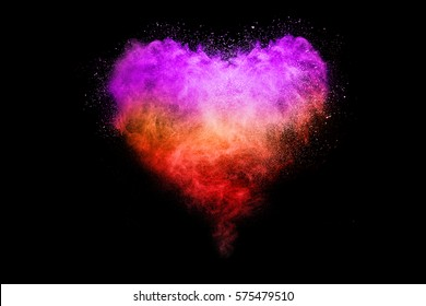 Pink Hearts On A Black Background Images Stock Photos Vectors Shutterstock