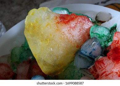 Colorful Heart Shaped Ice Cube