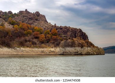 Colorful hill above Studen Kladenets, one of the most beautiful Bulgarian dams.