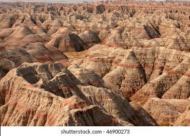 Colorful Hills in Badlands National Park in USA