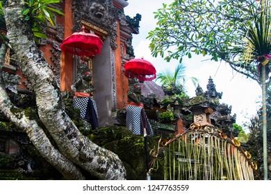 colorful hindu temple on Bali