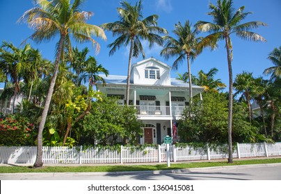 Colorful historical house in Key West, Florida