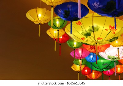 colorful HOI AN latern VIETNAM ceiling decorate