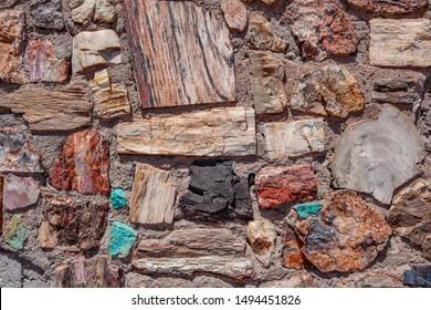 Colorful Holbrook Petrified Wood Wall