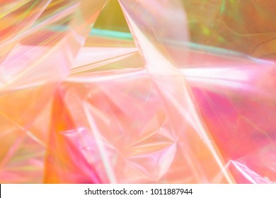 Colorful holographic background. Light reflection, rainbow colors. Magical marbling effect for banner templates and wallpaper