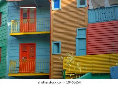 Colorful homes in La Boca - Buenos Aires La boca - Caminito,  Buenos Aires
