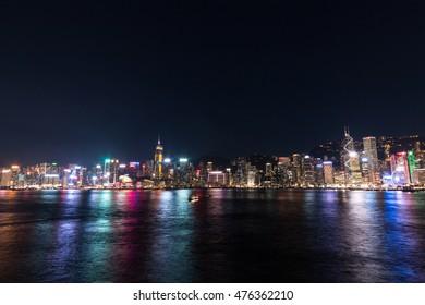 colorful Hong Kong at night