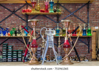 Colorful hookahs for smoking