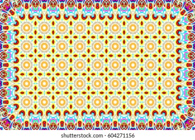 Colorful horizontal pattern for carpets, table cloths, textile and backgrounds
