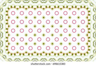 Colorful horizontal pattern for carpets, table cloths, cards, textile and backgrounds