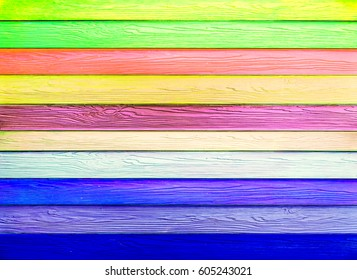colorful horizontal wood texture background