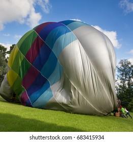 Colorful hot air balloon.