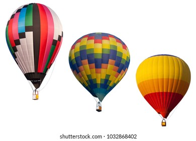 Colorful hot air balloon fly over the blue sky