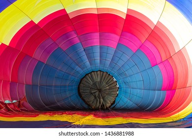 Colorful Hot Air Balloon partially inflated