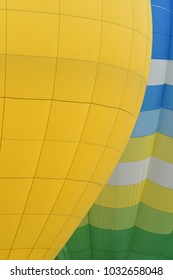 colorful hot air balloons in the start of journey trip on blue sky