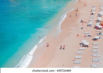 Colorful Hot Summer Landscape of Kaputas Beach