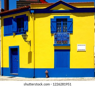 Colorful house in Aveiro, Portugal