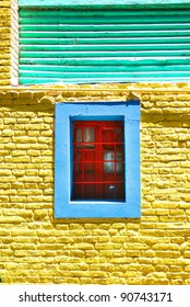 Colorful house of La Boca neighborhood,  or barrio of the Argentine capital, Buenos Aires. It retains a strong European flavour, with many of its early settlers being from the Italian city of Genoa.