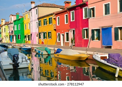 Colorful house in Venice on 15 September, 2013 (2)