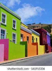 Colorful houses of Bo Kaap, Cape Town, South Africa