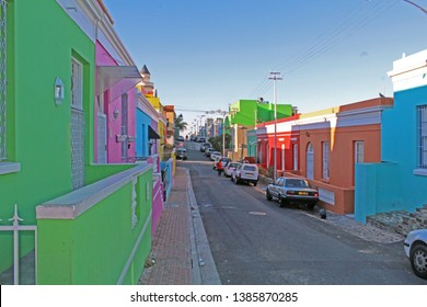 Colorful houses in the Bo Kaap district, Cape Town, South Africa