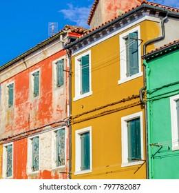 Colorful houses in Burano island near Venice, Italy