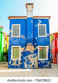 Colorful houses of the Burano Island, Venice, Italy
