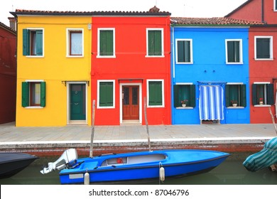colorful houses at Burano, Italy