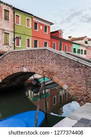 Colorful Houses in Burano Venice Italy