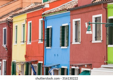 Colorful houses of Burano in Venice, Italy