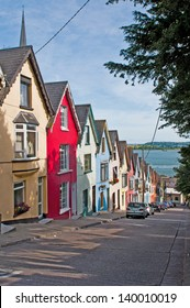 colorful houses called deck of cards in Cobh, Ireland
