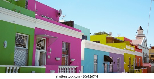 colorful houses in cape town south africa