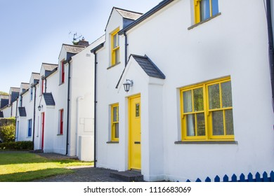 Colorful houses in Cashel, Ireland