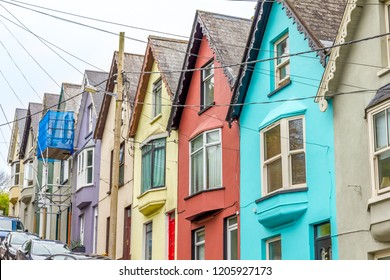 Colorful houses in Cobh, Ireland