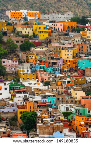 Colorful Houses of Guanajuato, Mexico