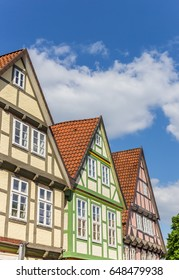 Colorful houses in the historic center of Celle, Germany
