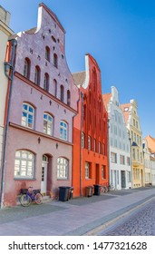 Colorful houses in the historic center of Wismar, Germany