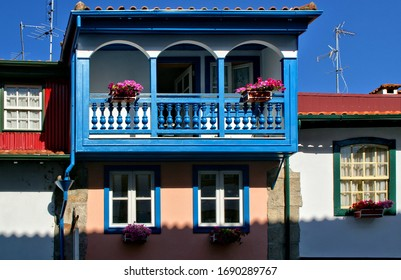 Colorful houses in the historical center of Chaves, Portugal