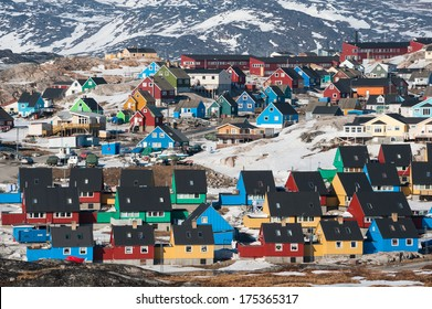 Colorful houses in Ilulissat, North Greenland
