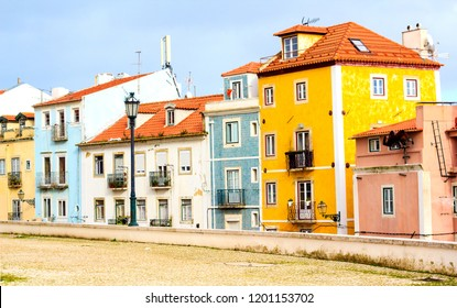 Colorful houses in Lisbon, Portugal
