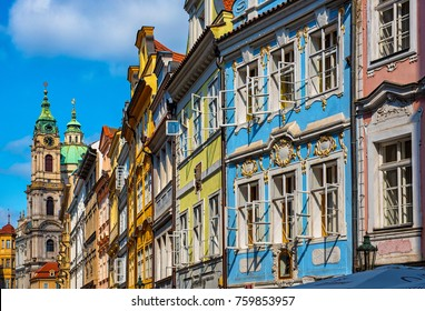 Colorful houses in the old town of Prague