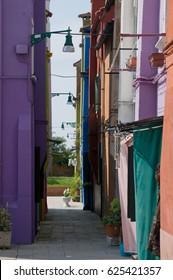 Colorful houses on Burano island, Italy