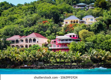 Colorful houses on Tortola