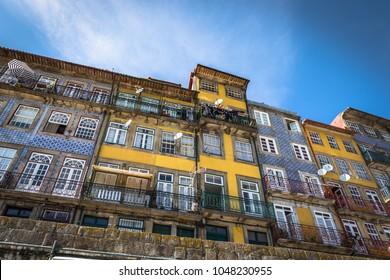 Colorful houses of Porto Ribeira, Portugal