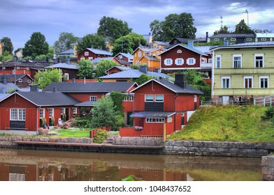 Colorful houses in Porvoo, Finland