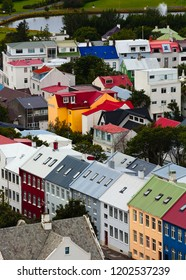 colorful houses in Reykjavik,Iceland